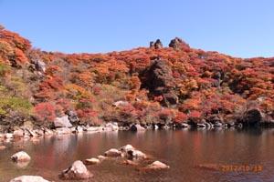 大船山の御池の紅葉